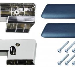 RestoParts Armrest Base/Pad Kit, Front, 1965-67 A-Body, Blue AK15BL