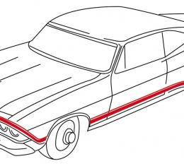 RestoParts Decal, 68 Chevelle, Body Stripe, Super Sport, Red 3934117