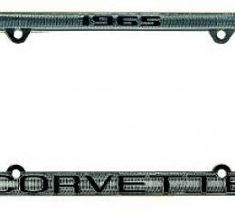 Corvette License Plate Frame, Corvette Chrome, 1967