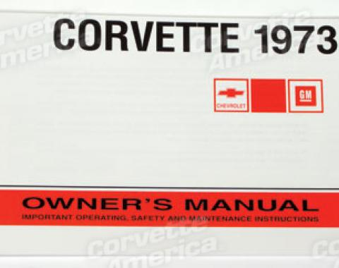 Corvette Owners Manual, 1973