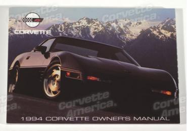 Corvette Owners Manual, 1994, NQP