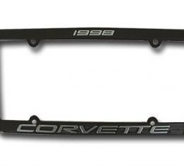 Corvette License Plate Frame, Corvette Black, 1998