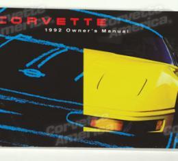 Corvette Owners Manual, 1992