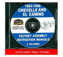 El Camino Factory Assembly Instructions Manual, On CD, 1964-1966