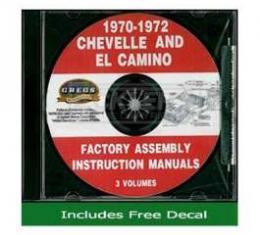 El Camino Factory Assembly Instructions Manual, On CD, 1970-1972