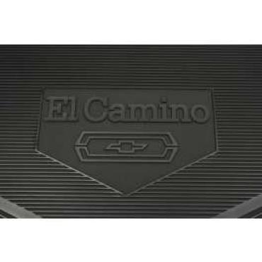 Legendary El Camino Floor Mats, Vintage Rubber, With El Camino Block Letters And Bowtie Emblem, Black, Show Correct, 1968-1972