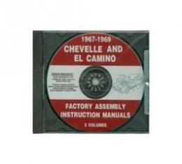 El Camino Factory Assembly Instructions Manual, On CD, 1967-1969