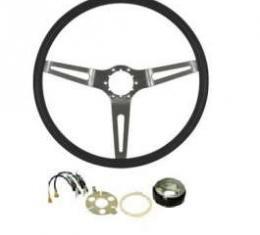 El Camino Steering Wheel, 3 Spoke Cushion, Complete, 1969-1970