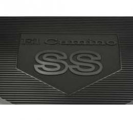 Legendary El Camino Floor Mats, Vintage Rubber,With El Camino Block Letters And SS Emblem, Black, Show Correct, 1968-1972
