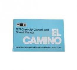 El Camino Owners Manual, 1977