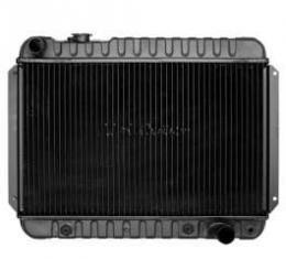 El Camino Radiator, Small Block With Air Conditioning, Big Block Without Air Conditioning, 3-Row, Heavy-Duty, For Cars With Automatic Transmission, U.S. Radiator, 1966-1967