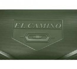 Legendary El Camino Floor Mats, Vintage Rubber,With El Camino Block Letters And Bowtie Emblem, Black, Show Correct, 1964-1967