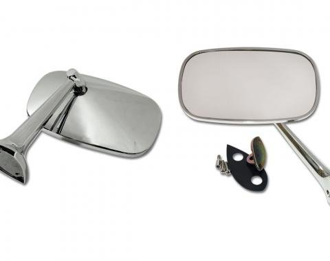 Corvette Outside Mirrors, with Mounting Kits, 1975-1979