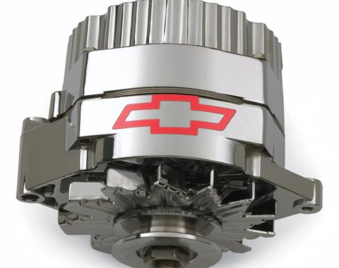Proform Alternator, GM 73-86 with Internal Regulator, GM Bowtie Logo, Chrome, 100% New 141-656