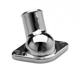 Proform Water Neck, Chrome, O-Ring Style, For SB and BB Chevy Engines, 45 Degree Type 66209