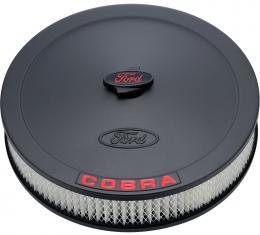 Proform Air Cleaner Kit, Black, Embossed Cobra Logo, 13 In. Diameter, With Center Nut 302-372