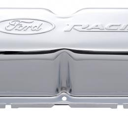 Proform Engine Valve Covers, Tall Style, Steel, Chrome with Ford Logo, For SB Ford 302-070