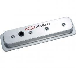 Proform Engine Valve Covers, Center Bolt Style, Die Cast, Polish w/Bowtie Logo, SB Chevy 141-130