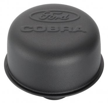 Proform Engine Valve Cover Breather, 3 In Dia, Cobra Logo, Push-In Style, Black Crinkle 302-226
