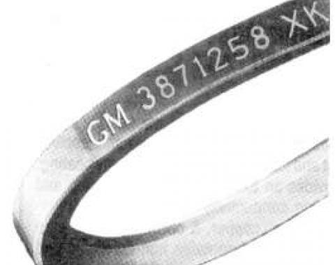 Camaro Power Steering Belt, 307ci & 327ci, 1968