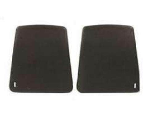 Camaro Bucket Seat Back Panels, Black, 1967-1970
