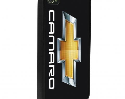 Camaro iPhone 5 Rubber Case, with Camaro Logo and Bowtie