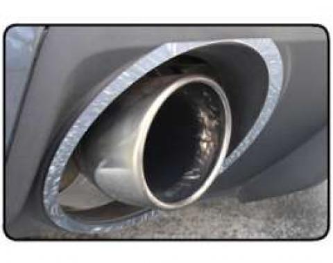 Camaro V6 Exhaust Bezels, 2010-2011