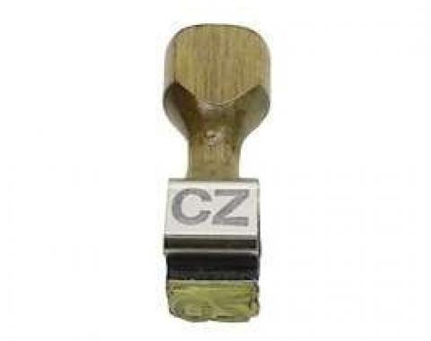 Camaro Alternator Broadcast Code Stamp, CZ, 1969
