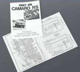 Camaro Rally Sport (RS) Console Gauge & Headlight Wiring Manual, 1967-1969
