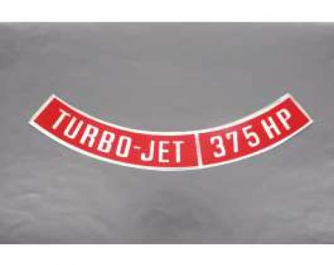 Camaro Air Cleaner Decal, Turbo-Jet 375 HP, 1967-1969