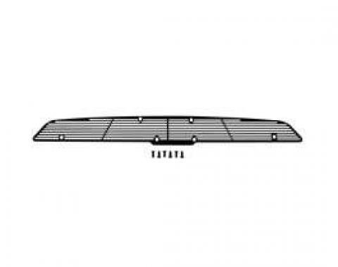 Camaro Cowl Induction Hood Grille, Style 1, Black, 1967-1969