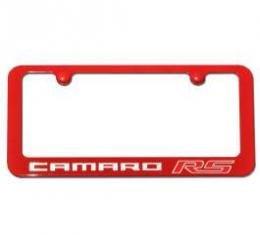 Camaro RS Painted Rear License Plate Frame, Aqua Blue