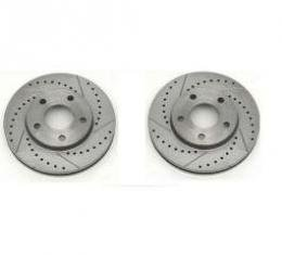 Right Stuff Rear Disc Rotor, Drilled & Slotted, Zinc Washed, Pr. BR25ZDC