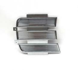 Camaro Headlight Door Cover, Inner, Right, Chrome, Rally Sport (RS), 1969