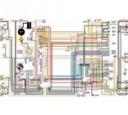 Camaro Color Laminated Wiring Diagram, 1973 with Gauges