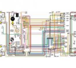 Camaro Color Laminated Wiring Diagram, (2 sheets) 1976