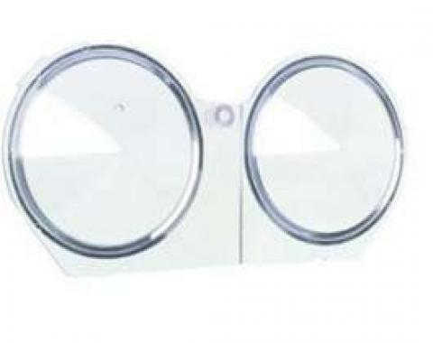 Camaro Instrument Carrier Housing Speedometer & Fuel Gauge Lens, 1968