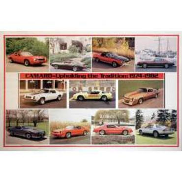 Camaro 1974-1982 Upholding The Tradition Poster