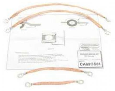 Camaro Ground Strap Set, Engine Compartment, 1969