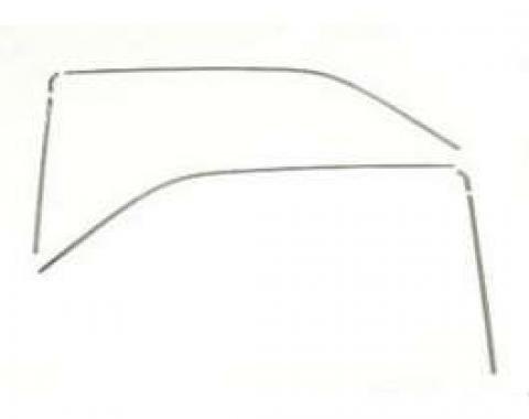 Camaro Roof Drip Rail Molding Set, 1967-1969