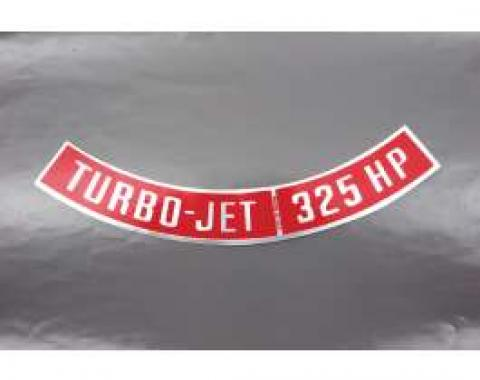 Camaro Air Cleaner Decal, Turbo-Jet 325 HP, 1967-1969