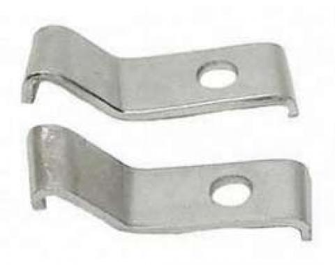 Camaro Deluxe Bumper Guard Mounting Brackets, Front, 1969