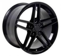Camaro 18 X 9.5 C6 Z06 Reproduction Wheel, Black, 1993-2002