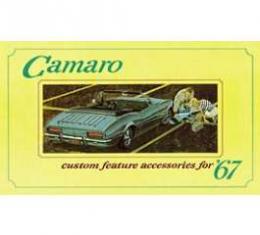 Camaro Custom Feature Accessories Booklet, 1967