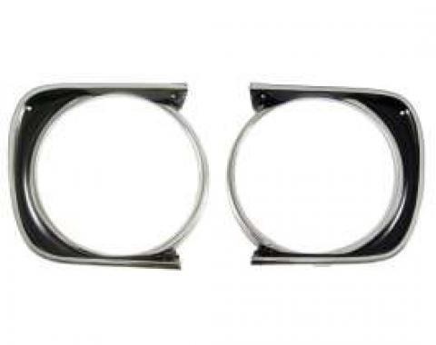 Camaro Headlight Bezels, For Cars With Standard Trim (Non-Rally Sport), Left & Right, 1967