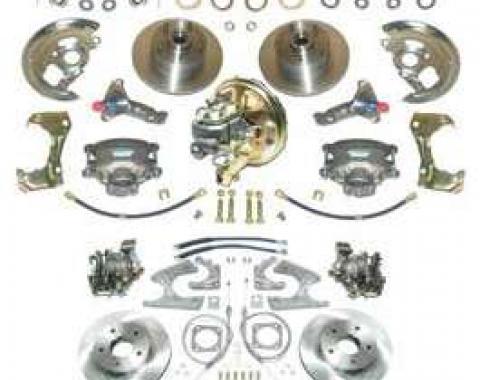 Camaro Power Disc Brake Conversion Kit, Complete, 4-Wheel, 1967-1969