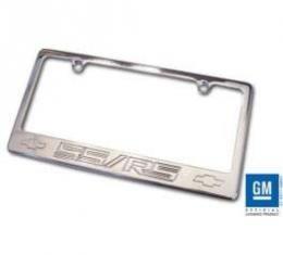 Camaro License Plate Frame, Polished, Camaro SS/RS Logo, 2010-2014
