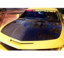 Camaro Hood, Fiberglass, With Clear Window, 2010-2013