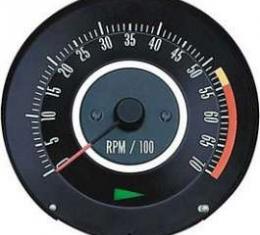 Camaro Tachometer, 5500 RPM Redline, 1967