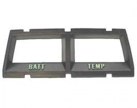 Camaro Console Battery Ammeter & Water Temperature Gauge Bezel, 1968-1969